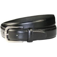Women's Leather Uniform Belt With Silver Buckle