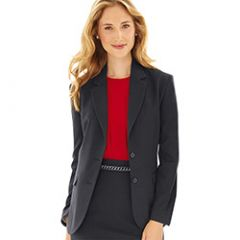 Flight Attendant Woman's 2 Button Jacket in Black