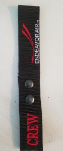 Two-Snap Embroidered Endeavor Air Crew Luggage Tags
