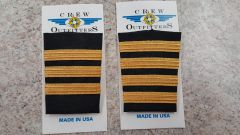 Crew Outfitters Velcro Epaulets - First Officer