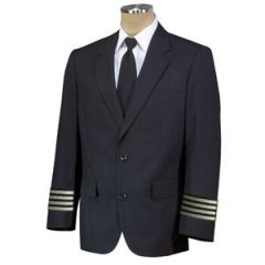 Crew Outfitters Single Breast  55/45 Poly Wool Pilot Blazer