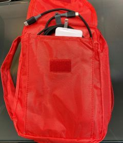 Electronics pouch ( Black or red )