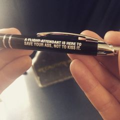 F/A Here to Save Ass not Kiss it Pen