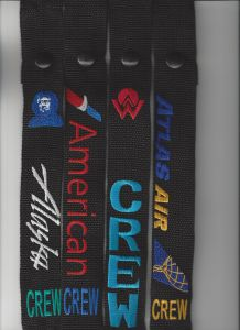 Crew Straps - Various Airlines