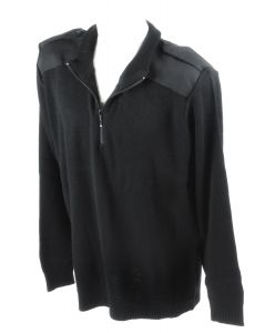 Crew Outfitters 1/4 Zip Black Commando Sweater