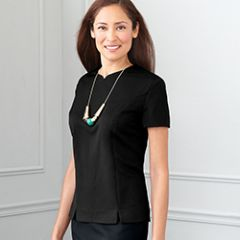 Flight Attendant Female Tailored Blouse - Black or Charcoal