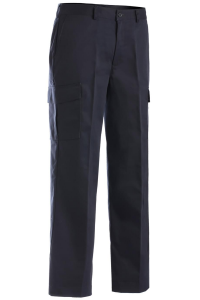 Men's Cargo Navy Uniform Pants - Flat Front with pockets