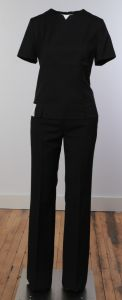 Flight Attendant Women's Flat Front Pants - Black or Charcoal