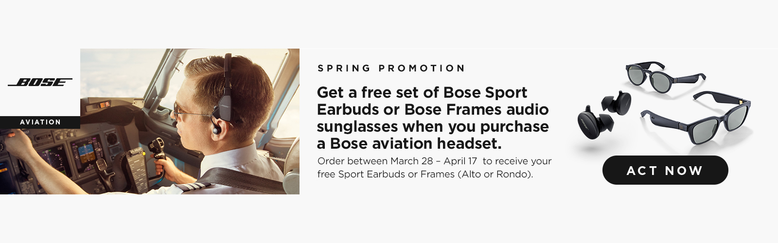 Free sport earbuds with Bose ProFlight Series 2